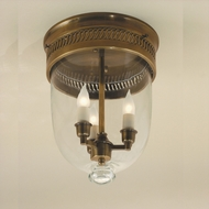 JVI Designs 1033 Large Transitional Style 14 Inch Tall Bell Jar Ceiling Light