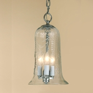 JVI Designs 1036 13 Inch Tall Mini Transitional Drop Ceiling Lighting Fixture