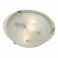 JVI Designs 1063 3 Lamp Flush Mount Lighting Fixture With Finish Options