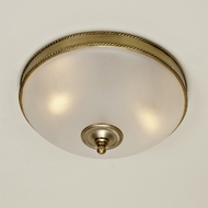 JVI Designs 1064 Transitional Style 3 Lamp Flush Lighting With Finial