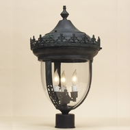 JVI Designs 1122 3 Candle Antique Style 27 Inch Tall Exterior Lighting Post Lamp
