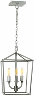 JVI Designs 1140-23 Austin Aged Silver Foyer Light Fixture