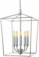 JVI Designs 1142-23 Austin Aged Silver Foyer Light Fixture