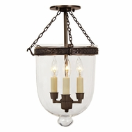 JVI Designs 1150 Semi Flush 3 Candle 17 Inch Tall Ceiling Lighting Fixture