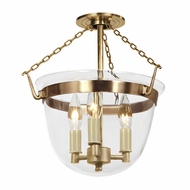 JVI Designs 1153 13 Inch Diameter 3 Candle Semi Flush Lighting With Finish Options