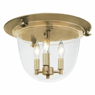 JVI Designs 1157 Transitional 3 Candle Flush Mount Ceiling Lamp - 14 Inch Diameter