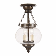 JVI Designs 1171 Transitional 2 Candle Semi Flush Lighting With Finish Options