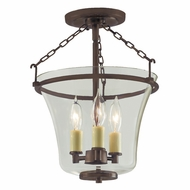 JVI Designs 1182-08 Greenwich Oil Rubbed Bronze Finish 10.5  Wide Ceiling Light Fixture