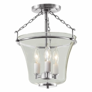 JVI Designs 1182-17 Greenwich Pewter Finish 14.5  Tall Overhead Lighting