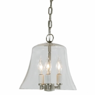 JVI Designs 1183-17 Greenwich Pewter Finish 10.5  Tall Pendant Light