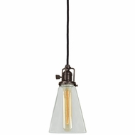 JVI Designs 1200-08-S10 Union Square Oil Rubbed Bronze Finish 4.75  Wide Mini Lighting Pendant