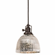 JVI Designs 1200-08-S5-SR Union Square Oil Rubbed Bronze Finish 8  Tall Mini Pendant Lamp