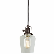 JVI Designs 1200-08-S9 Union Square Oil Rubbed Bronze Finish 5  Wide Mini Hanging Lamp