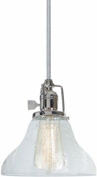 JVI Designs 1200-15-S11-CB Union Square Polished Nickel Mini Hanging Pendant Lighting