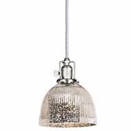 JVI Designs 1200-17-S5-SR Union Square Pewter Finish 7  Wide Mini Pendant Light Fixture