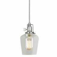 JVI Designs 1200-17-S9 Union Square Pewter Finish 8.5  Tall Mini Pendant Lighting Fixture