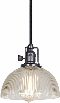 JVI Designs 1200-18-S12-CR Union Square Gun Metal Mini Hanging Light