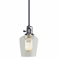 JVI Designs 1200-18-S9 Union Square Gun Metal Finish 8.5  Tall Mini Hanging Pendant Light