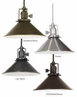 JVI Designs 1200-M3 Union Square Retro 8 Inch Diameter Mini Hanging Light Fixture