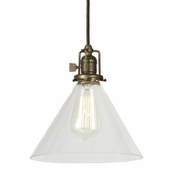 JVI Designs 1200-S3 Union Square Mini 9 Inch Diameter Clear Glass Retro Pendant Lamp