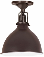 JVI Designs 1202-08-M4 Union Square Nautical Oil Rubbed Bronze Flush Lighting