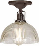 JVI Designs 1202-08-S12-CR Union Square Oil Rubbed Bronze Ceiling Lighting Fixture