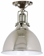 JVI Designs 1202-15-M4 Union Square Nautical Polished Nickel Flush Mount Lighting