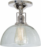 JVI Designs 1202-15-S12-CB Union Square Polished Nickel Flush Mount Light Fixture