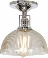 JVI Designs 1202-15-S12-CR Union Square Polished Nickel Flush Mount Lighting Fixture