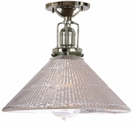 JVI Designs 1202-15-S2-MP Union Square Bailey Contemporary Polished Nickel Ceiling Light Fixture