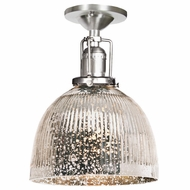 JVI Designs 1202-17-S5-SR Union Square Pewter Finish 7  Wide Home Ceiling Lighting