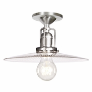 JVI Designs 1202-17-S6-CR Union Square Pewter Finish 10  Wide Overhead Lighting Fixture