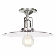 JVI Designs 1202-17-S6 Union Square Pewter Finish 6.25  Tall Overhead Light Fixture