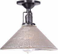 JVI Designs 1202-18-S2-MP Union Square Bailey Contemporary Gun Metal Flush Mount Lighting