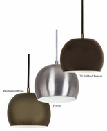 JVI Designs 1204 Rounded Mini 8 Inch Diaemeter Modern Bar Lighting