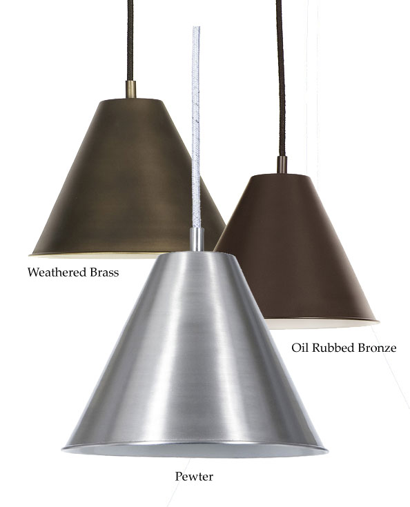 Bronze metal pendant lighting lovely glass pendant lights round jvi designs 1205 7 inch diameter cone metal shade pendant light aloadofball Images