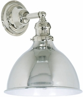 JVI Designs 1210-15-M4 Union Square Nautical Polished Nickel Wall Light Sconce