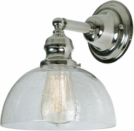 JVI Designs 1210-15-S12-CB Union Square Polished Nickel Light Sconce