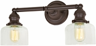 JVI Designs 1211-08-S4 Union Square Shyra Modern Oil Rubbed Bronze 2-Light Lighting For Bathroom