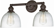 JVI Designs 1211-08-S5-CB Union Square Madison Modern Oil Rubbed Bronze 2-Light Bathroom Light