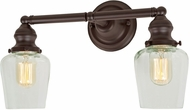 JVI Designs 1211-08-S9 Union Square Liberty Modern Oil Rubbed Bronze 2-Light Vanity Lighting