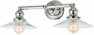 JVI Designs 1211-15-S1 Union Square Ashbury Contemporary Polished Nickel 2-Light Vanity Light