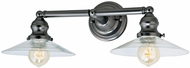 JVI Designs 1211-18-S1 Union Square Ashbury Modern Gun Metal 2-Light Bathroom Wall Sconce