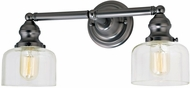 JVI Designs 1211-18-S4 Union Square Shyra Contemporary Gun Metal 2-Light Bath Wall Sconce