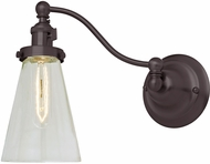 JVI Designs 1253-08-S10 Soho Barclay Modern Oil Rubbed Bronze Swing Arm Wall Lamp