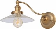 JVI Designs 1253-10-S1 Soho Ashbury Contemporary Satin Brass Wall Swing Arm Light