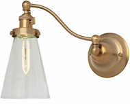 JVI Designs 1253-10-S10 Soho Barclay Modern Satin Brass Swing Arm Wall Light