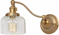 JVI Designs 1253-10-S4 Soho Shyra Contemporary Satin Brass Wall Swing Arm Lamp