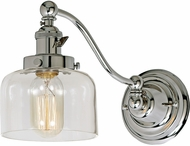 JVI Designs 1253-15-S4 Soho Shyra Contemporary Polished Nickel Wall Swing Arm Light
