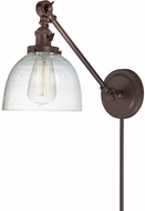 JVI Designs 1255-08-S5-CB Soho Madison Modern Oil Rubbed Bronze Swing Arm Wall Lamp